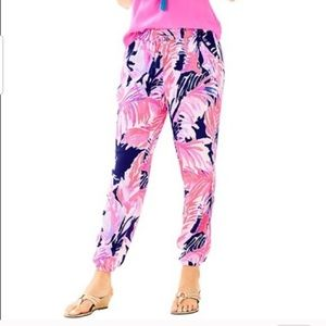 Lilly Pulitzer Piper Jogger Pants Paradise Point